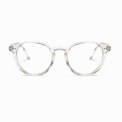 Crystal Transparent Clear Blue Light Blocking Glasses Office use anti blue