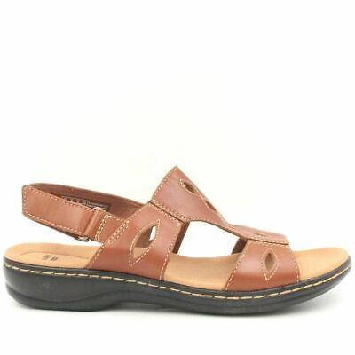 ef89dd5285b7 CLARKS LEISA FIELD Leather Lightweight Comfort Slides Sandals Womens ...