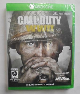 Xbox One Call of Duty WWII Brand New Factory Sealed