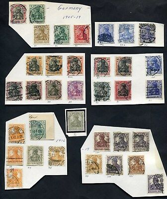 1905-1919 Germany  Lot of 35 Stamps, Scott's Identified