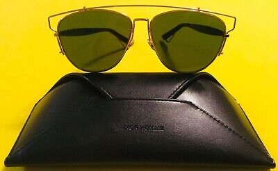 571dfd7a3ef CHRISTIAN DIOR TECHNOLOGIC 1UU07 57-14 140 Gold  Blue Sunglasses Made In  Italy