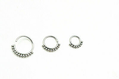 100PCS 316L Surgical Steel Seamless open  Nose/Ear Hoop Ring 20gx6/8/10mm NEW