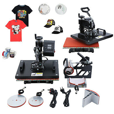 5in1 12X15 Combo T-Shirt Heat Press Transfer Machine Sublimation Swing Away DIY
