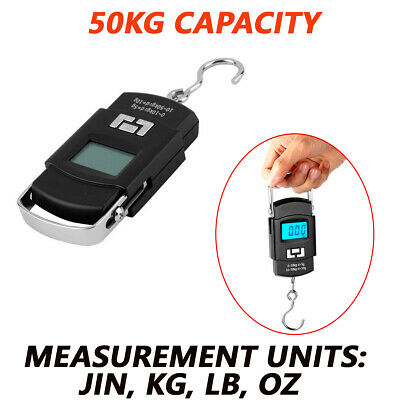 Portable 50kg Hanging LCD Digital Luggage Electronic Hook Pocket Scale Mini Kit