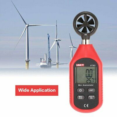 UNI-T Mini Digital LCD Anemometer Thermometer Wind Speed Temperature Tester ❃⚡✤