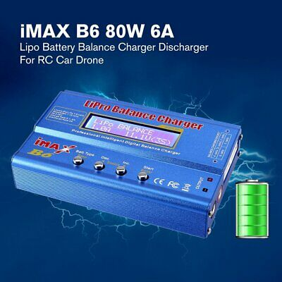 iMAX B6 80W 6A Lipo NiMh Battery Balance Charger Discharger for RC Car Drone ❃⚡✤