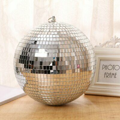 Large Mirror Glass Disco Ball DJ Dance Home Party Bands Club Stage Lighting AZ