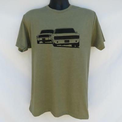 BULLITT MOVIE CAR CHASE T SHIRT STEVE McQUEEN 1967 MUSTANG 1968 DODGE CHARGER RT