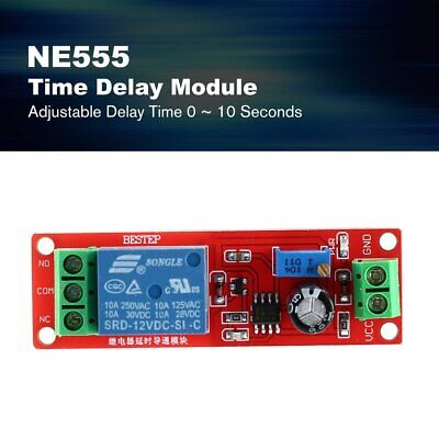 Mini NE555 12V Adusjustable Time Delay Relay Module Monostable Delay Switch ❃⚡✤
