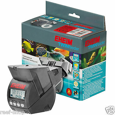 Eheim Twin Fish Feeder Battery Operated Auto Vacation Feeder Free USA Shipping