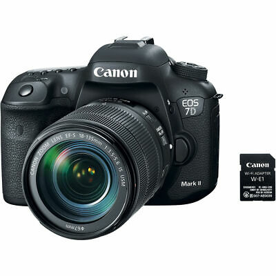 Canon EOS 7D Mark II Camera+18-135mm IS USM+W-E1 (accessory package) QQ