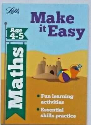 Letts Make it Easy Maths Ages 4-5 yrs workbook NEW!!!!
