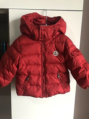 061e018d5f82 MONCLER BABY COAT Jacket With Fur 18-24 Months Navy Goose Down Real ...