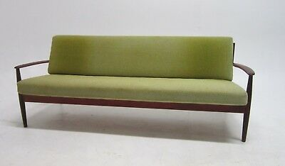 MID CENTURY MODERN Danish Teak Slat Back Sofa By Grete Jalk For France &  Sons