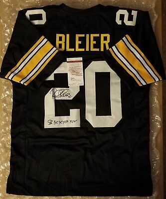 120fbe514 Rocky Bleier Signed Custom Jersey Pittsburgh Steelers Inscribed JSA  Witnessed.