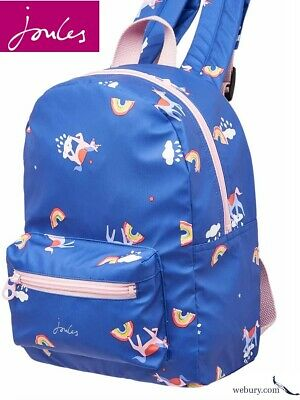 Joules Adventure Girls Rubber Backpack - Blue Unicorn Clouds - SALE 25% OFF