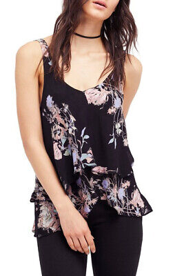 d8379e033df Free People Womens On The Tunic OB616215 Top Relaxed Onyx Combo Black Size  XS