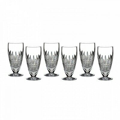 Waterford Lismore Crystal Diamond Iced Beverage Glass Set of 6 - 12 oz