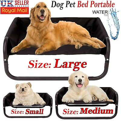 Indoor Outdoor Elevated Dog Pet Bed Portable Waterproof Raised Camping Basket