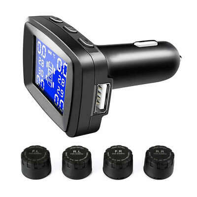 Tpms Tire Pressure Monitoring System With Usb Socket In Monitor, Cigarette  O1I3