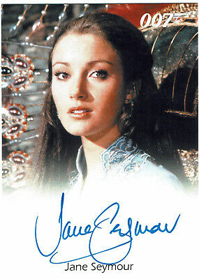 James Bond Archives 2014 Autograph Jane Seymour Solitaire in Live And Let Die