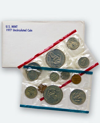 Genuine 1977 United States Mint Uncirculated Coin Set