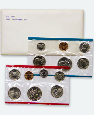 Genuine 1980 United States Mint Uncirculated Coin Set