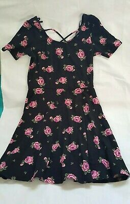 86498451acd NWT FOREVER 21 Junior Womens Black Floral Dress Size Medium -  11.99 ...