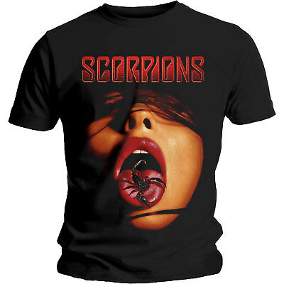 Official Licensed Scorpions Mens T-shirt Scorpion Tongue