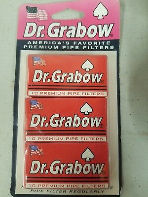 NEW Dr Grabow Pack of 3 10 Pipe Filters each box 30 Filters total