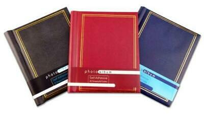 3x Large Self Adhesive Photo Album Total 60 Sheets 120 Sides Red Blue & Black