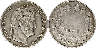 France 5 Francs Louis-Philippe I - 1846 A Paris Argent