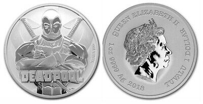 Tuvalu 1 Dollar Deadpool - Marvel Once Argent 2018