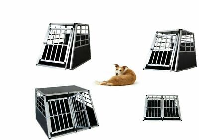 Dog Pet Cage Aluminium Single Double Door Large Transport Crate Car Boot Carrier