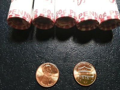 2014+2015+2016+2017+2018 P&d Mint Lincoln  Shield Cents  Set Of 10 Rolls