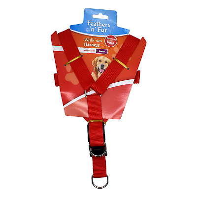 """Feathers n Fur Adjustable Dog Walking Harness Upto 70cm 27.5"""" Inch Chest Size."""