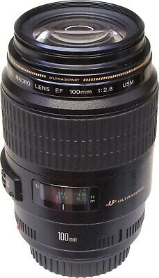 Canon EF 100mm F2.8 Macro USM Lens, Boxed