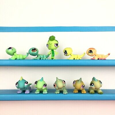 Authentic Lot 10 Littlest Pet Shop Iguana Lizard Gecko LPS Set
