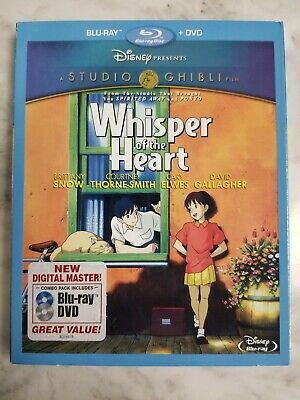 Studio Ghibli: Whisper of the Heart (Bluray/DVD 2012, 2-Disc Set) New/Sealed