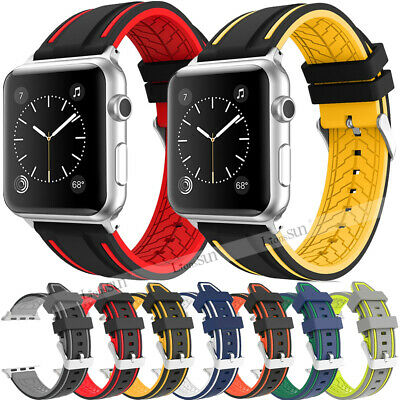 38mm/44mm For Apple Watch Series 4 3 2 Soft Silicone Sport Wrist Band Wristband