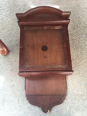 """Vintage Weight Driven Wall Clock Case 21"""" By 13"""" Heavy"""