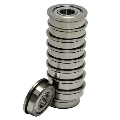 0.196inch Flanged Radial Ball Bearing 10pack E9O7 5//8inch FR4-ZZ 1//4inch