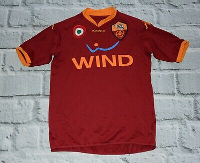 58e9d9fe4 AS ROMA ASR Kappa Patched Soccer Futbol Jersey Shirt WIND SZ M ...