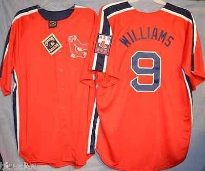 d86aad91 TED WILLIAMS BOSTON Red Sox Cool Majestic Cooperstown Away Baseball ...