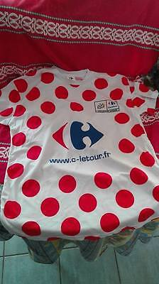 "Le Tour de France Maillot à Pois Tour de France sponsor ""Carrefour Officiel"