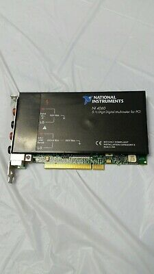 National Instruments NI-4060 Digital Multimeter Card 5-1/2 Digit PCI TESTED