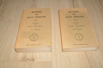 Vol 1 et 2 OEUVRES DE JEAN MESLIER - Edit anthropos