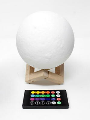 "Moon Lamp, LOGROTATE 16 Colors LED 3d Print Moon Light (Diameter 4.8"")"