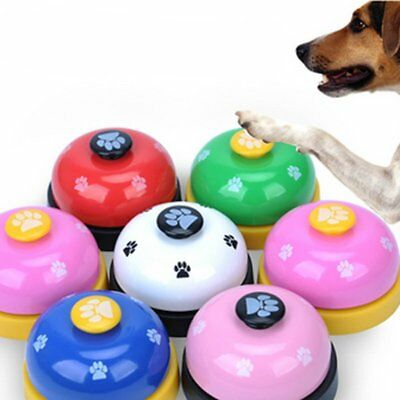 Pet Toy Training Called Dinner Small Bell Footprint Pattern Ring Dog Toys N6