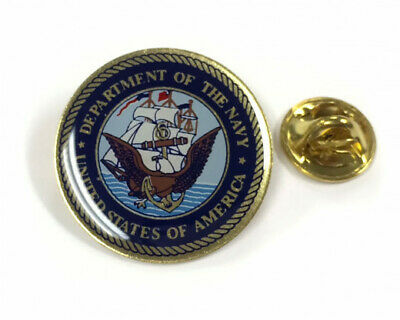 Seal of the United States Navy Round Emblem Lapel Hat Tie Pin - Made in USA